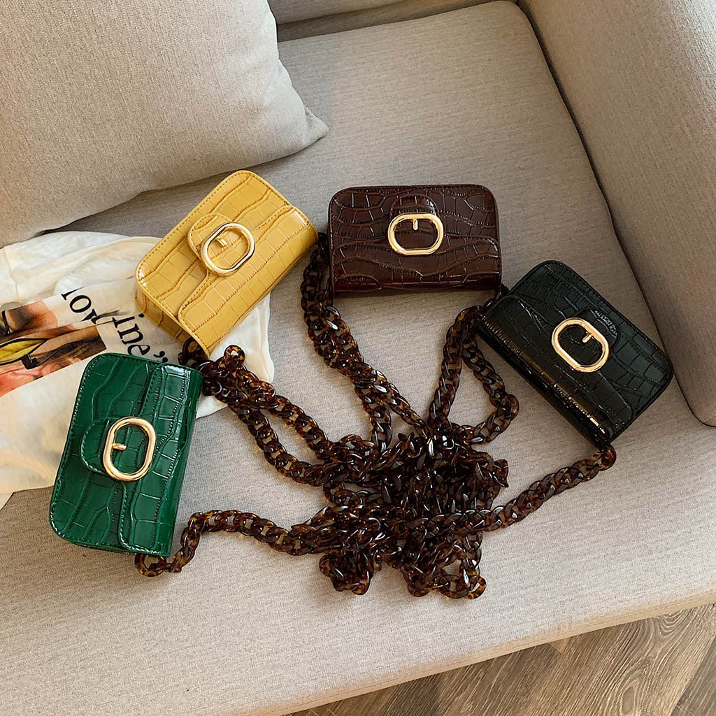 Woman Fashion Acrylic Chain Pouch High-End Versatile Shoulder Crossbody Bag