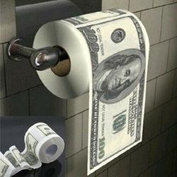Туалетная бумага $100 доллар, Юмористическая туалетная бумага, рулон туалетной бумаги, новинка, забавный подарок, лидер продаж