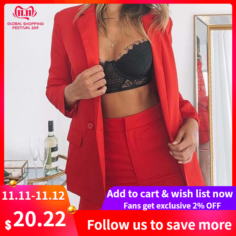 Helisopus New Elegant Office Lady 2 Piece Set Women Casual Jacket Blazer Tops And High Waist Shorts Suit Work Wear Plus Size