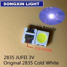 4000PCS JUFEI retroiluminação LED 1210 3528 2835 W 3 1 V 107LM Cool white Backlight LCD para TV TV aplicação 01. JT.2835BPWP2-C