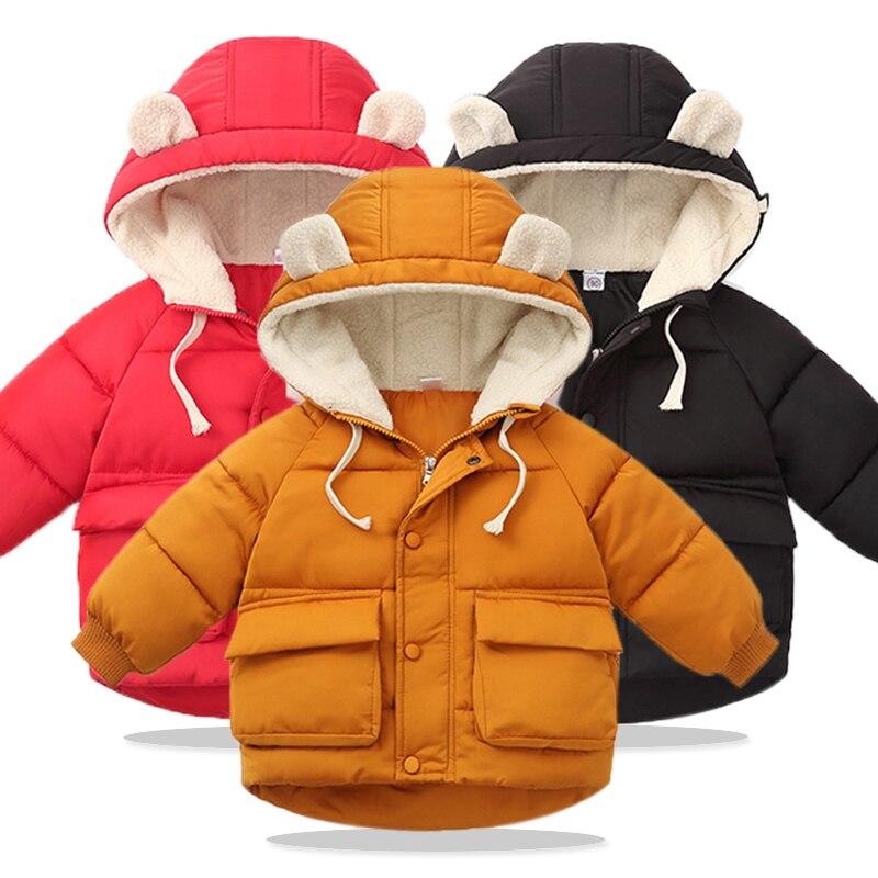 Baby Girls Jackets 2019 Autumn Jackets For Girls Windbreaker Kids Jackets Warm Hooded Outerwear Coats For Girls Children Clothes