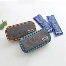 Waterproof Portable Insulin Cooler Bag Medical Diabetic Insulin Travel Case Cooler Pill Box Bolsa Termica Aluminum Foil Ice Bag
