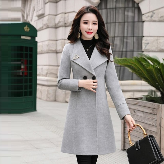 Autumn Winter Woolen Coat fashion Warm Women Cashmere Jacket