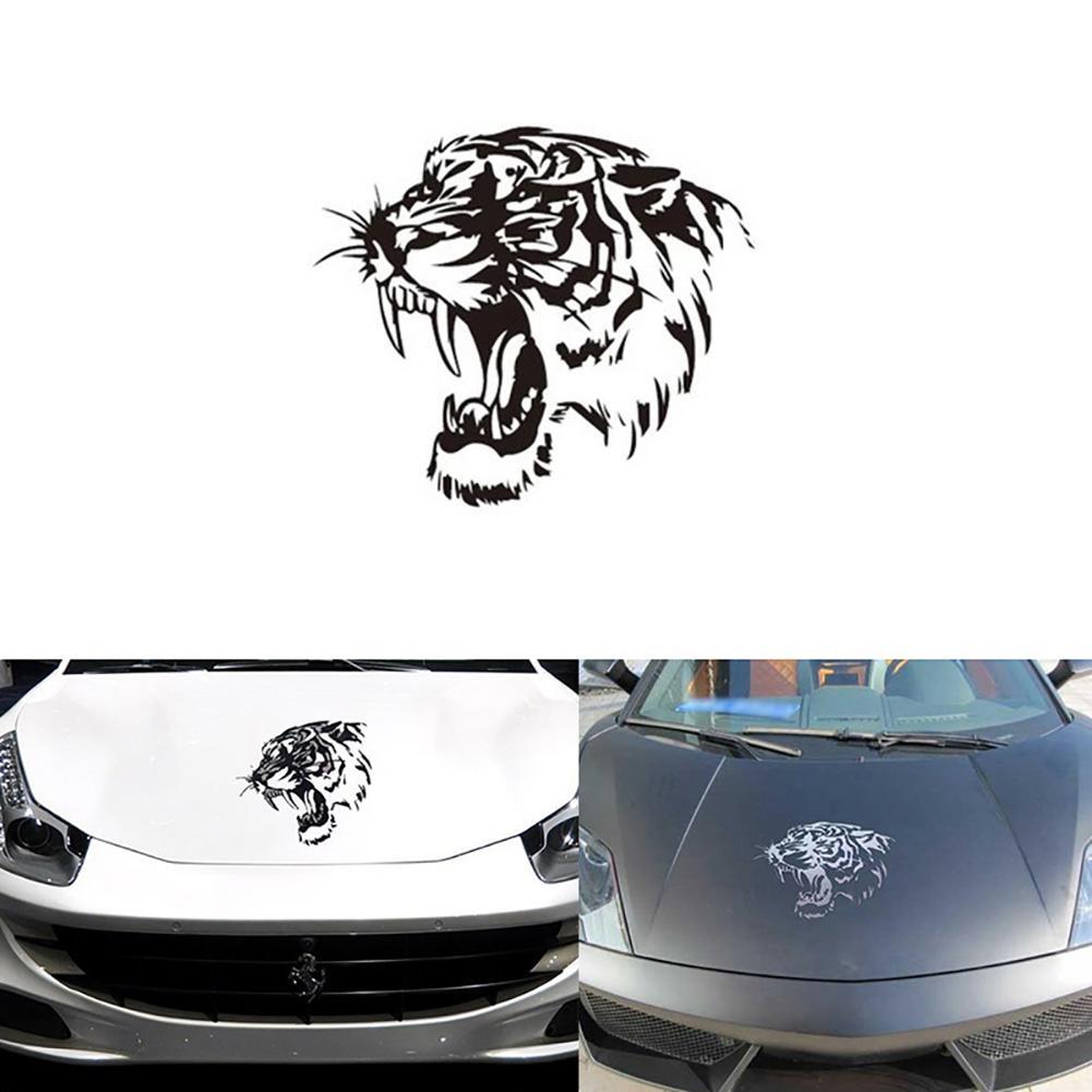 Amazon Com Tiger Decal Bumper Sticker Decals White Tiger Sticker Vinyl Sticker For Cars Windows Walls Fridge Toilet And More 11 Inch Home Kitchen