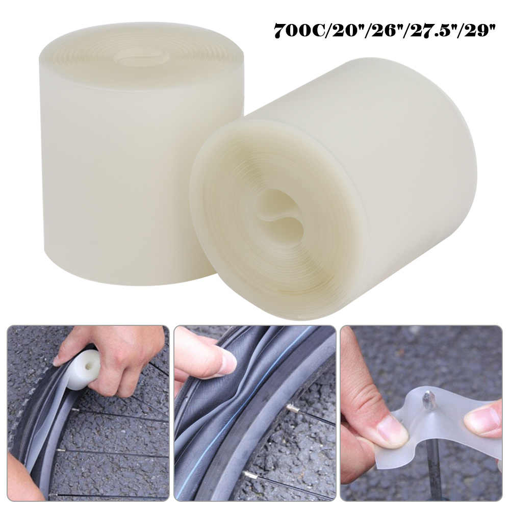 2x Bicycle Bike Tire Liner Anti-Puncture Belt Tyre Protector Tape 0.5mm 4 Size