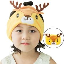 Kids Headphone Wired Earphone Sleeping Eye Mask Cartoon Deer Soft Music Headset for Children