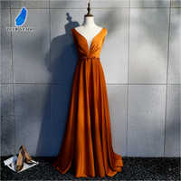 DEERVEADO Sexy Open Back Long Evening Dresses with Beading Deep V Neck Formal Dress Occasion Party Dresses Evening Gown XYG820