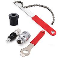 Bicicleta manivela extrator suporte inferior removedor kit ferramentas de reparo manivela extrator  roda livre corrente chicote ciclo bicicleta cassete|Ferramentas p/ reparo de bicicletas| |  -