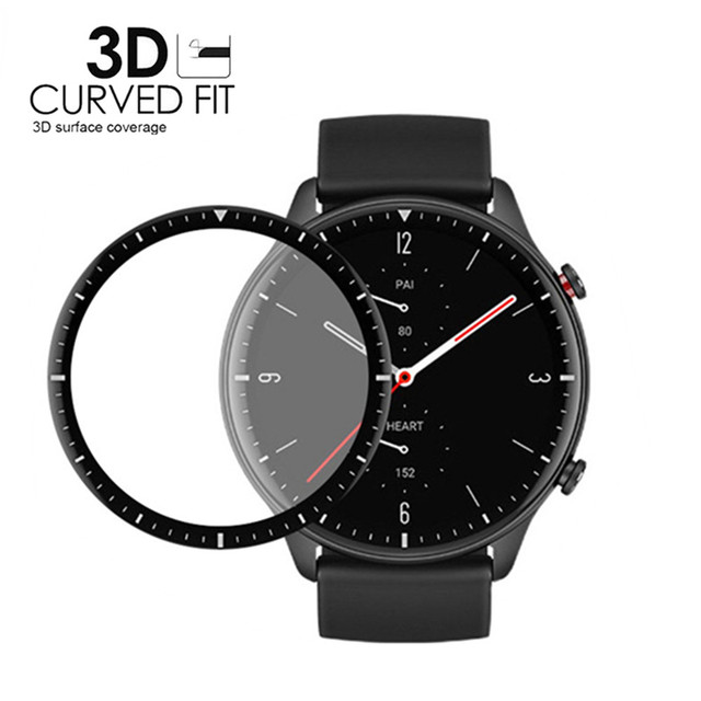 3D Curved Full Edge Soft Protective Film For Xiaomi Huami Amazfit GTR 2 Screen Protector for Amazfit Watch GTR2 Smartwatch Cover 1