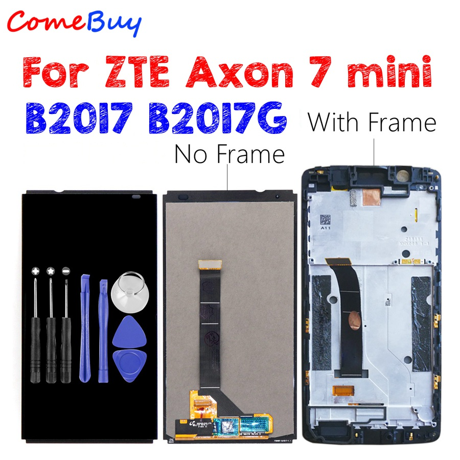 Dla ZTE Axon 7 mini wyświetlacz LCD ekran dotykowy Digitizer Aseembly dla Axon7 Axon 7 mini LCD z ramką B2017 B2017G wymiana w Ekrany LCD do tel. komórkowych od Telefony komórkowe i telekomunikacja na AliExpress - 11.11_Double 11Singles' Day 1