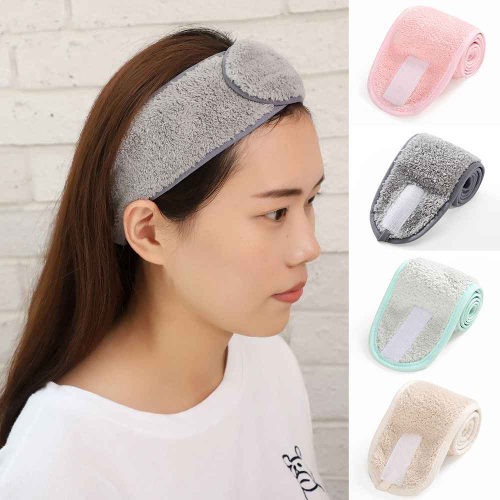 Adjustable Makeup Hairband Headband For Wash Face Spa Facial Hair Bands For Women Girls Soft Toweling Turban Hair Accessories Aliexpress