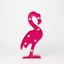 30cm most popular flamingo indoor lamp table decoration marquee letter light plastic light 3d led letter sign