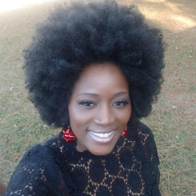 Kalyss Big Bouncy pełny gruby krótki Afro peruka z kręconych włosów typu Kinky dla kobiet lekkie włosy syntetyczne peruka peruka z kręconych włosów typu Kinky dla czarnych kobiet