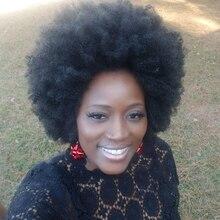 Kalyss Bouncy Grande Grosso Curto Afro Crespo Encaracolado Completo Peruca para As Mulheres Leve Sintética Peruca de Cabelo Crespo Peruca Encaracolado para As Mulheres Negras
