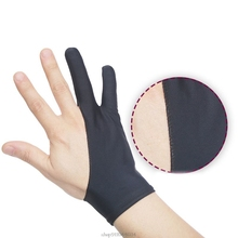 Drawing-Glove for Right And Left Hand-D17-20 2-Fingers Anti-Fouling Painting Any-Graphics