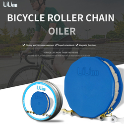New Portal Bicycle Chain Wool Oil Lubricator Bike Chain Oiler Roller Cycling Cleaner Lubricant W/Magnet Bike Chain Repair Tools