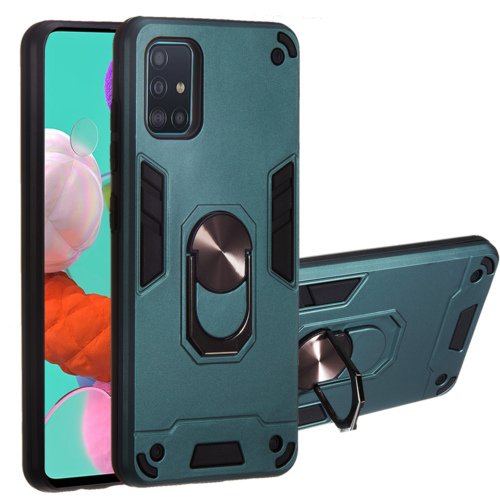 For Samsung Galaxy A51 A71 Case Hard PC With Stand Ring Magnet Shockproof Armor Protective Back Cover Case For Samsung A81 A91