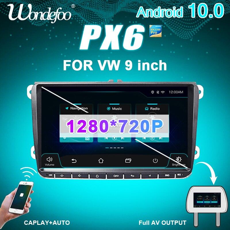 Wondefoo PX6 автомобильное радио Автомагнитола 2 din Android 10 магнитола для Seat Altea VW Passat B7 CC GOLF 5 6 Polo Tiguan 2din стерео Авто Аудио Авторадио Навигация навига...