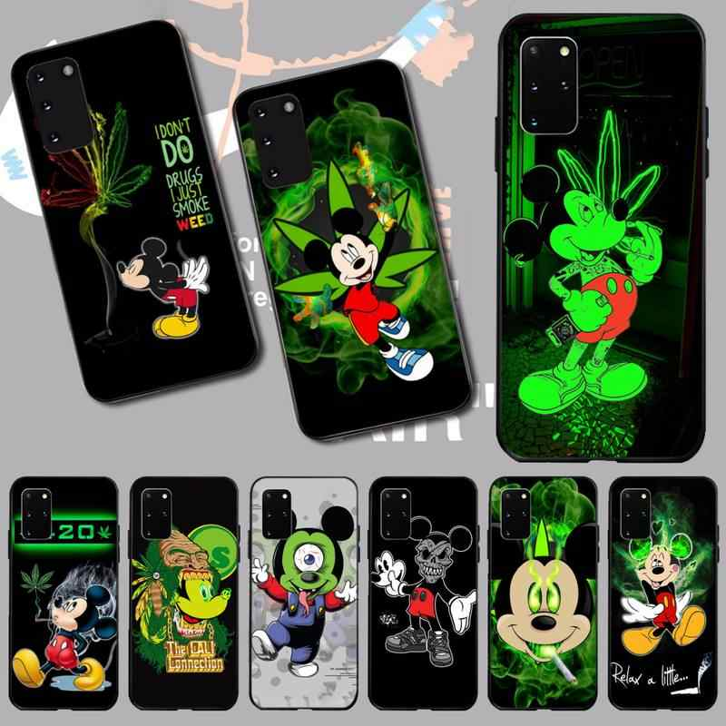Hpchcjhm Gulma Mickey Mouse Phone Case untuk Samsung S20 Plus Ultra S6 S7 Edge S8 S9 Plus S10 5G