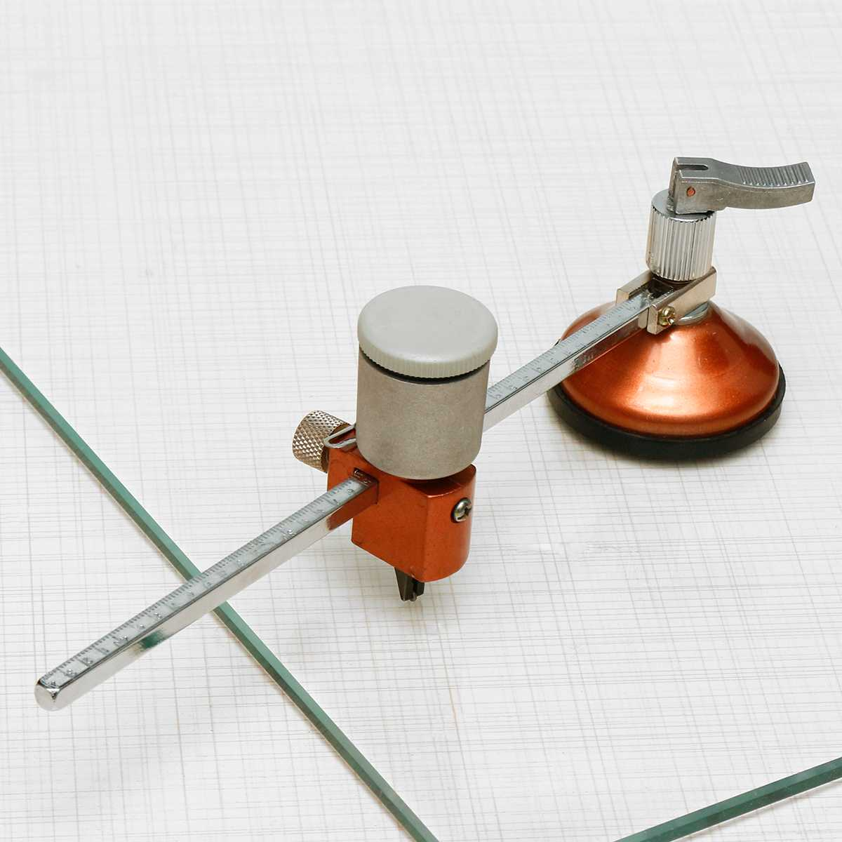 40cm Diameter Glass Circle Cutter With Suction Cup Hole Opening Cutting Glass