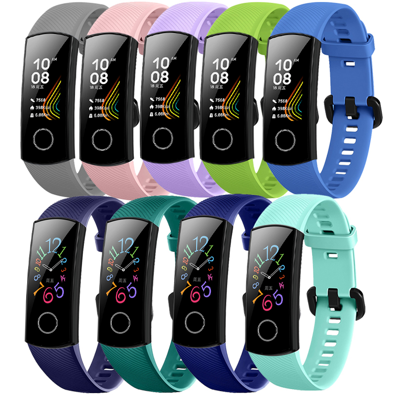 Silicone Wrist Strap For Huawei Honor Band 5 Sports Bracelet Strap For Huawei Honor Band 5 Band 4 Standard Version Accessories