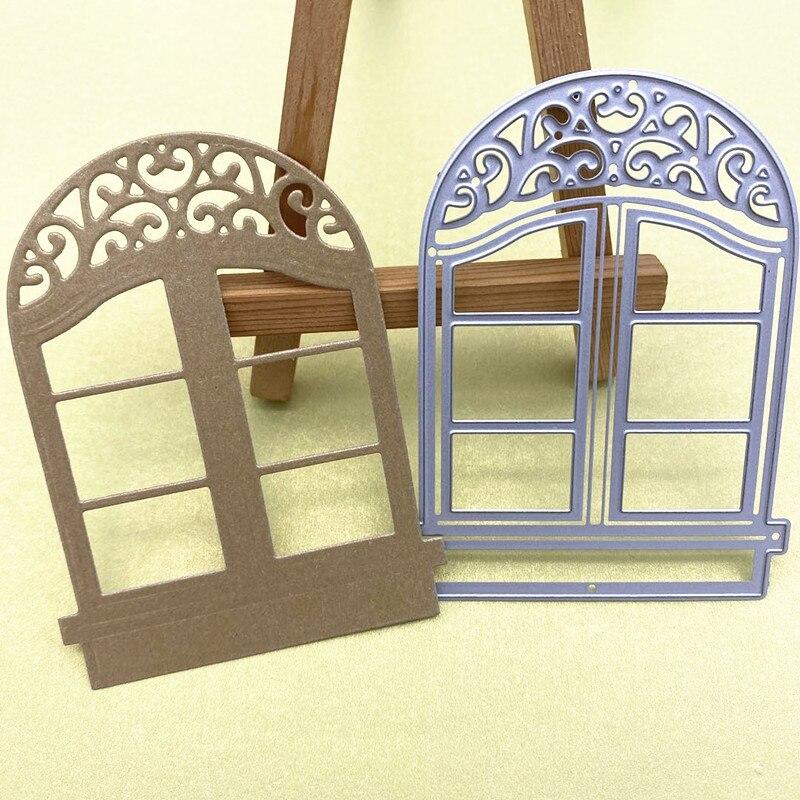 Plantillas De Corte De Metal Para Ventana De Puerta Manualidades /Álbumes De Recortes Tarjetas De Papel Troqueles Decorativos DIY