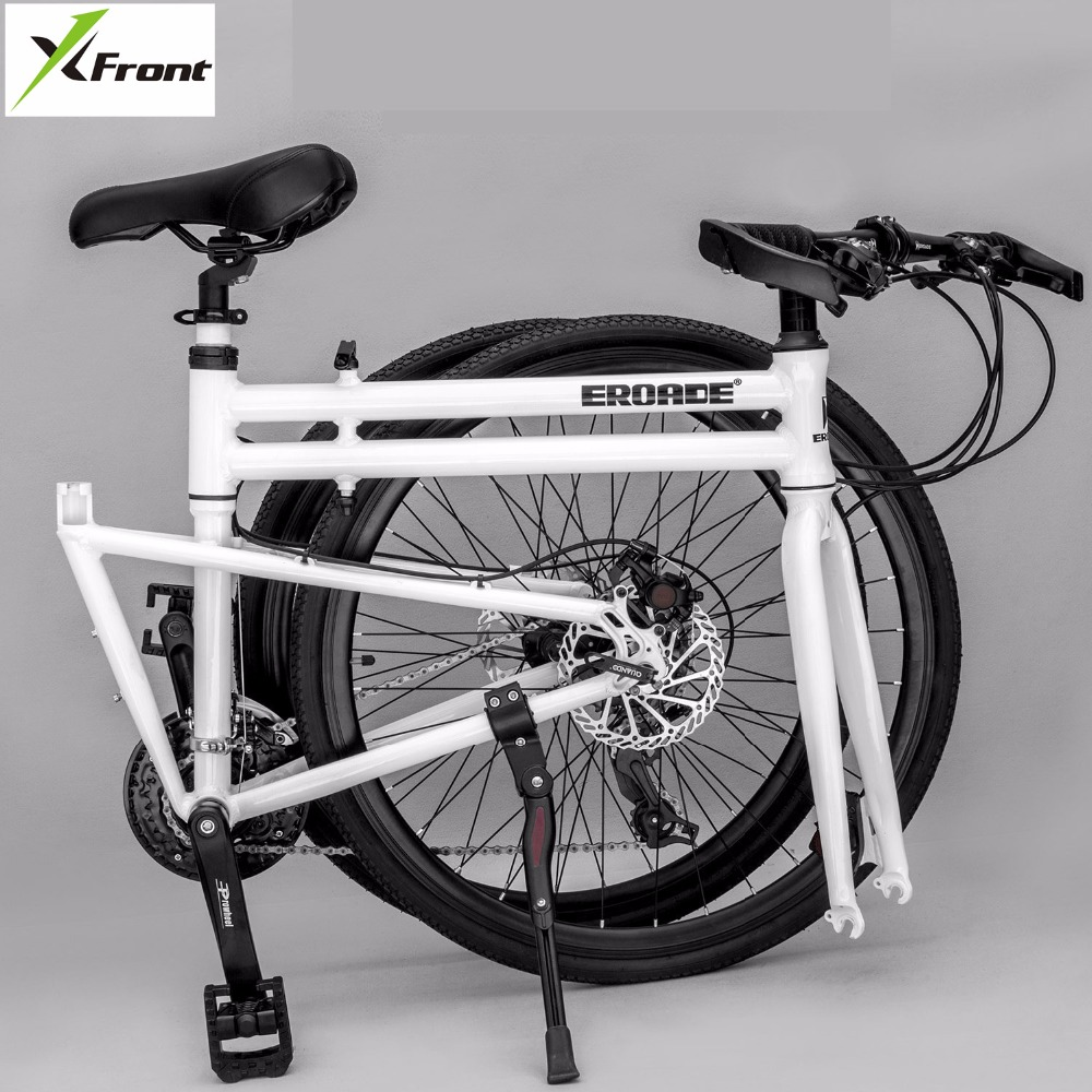 New Brand Folding Bike Aluminum Alloy Frame 26 Inch Wheel 24/27 Speed Dual Disc Brake Road Bicycle Bicicleta