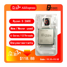AMD Ryzen 5 2600 R5 2600 3.4 GHz ستة النواة اثني عشر موضوع معالج وحدة المعالجة المركزية YD2600BBM6IAF المقبس AM4