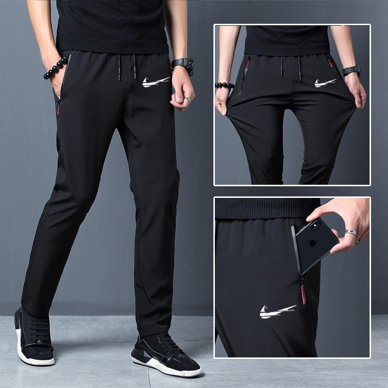 2021 New Men Pants Joggers Fitness Casual Quick Dry Outdoor Sweatpants Breathable Slim Elasticity Trouser Plus Size Men Pants