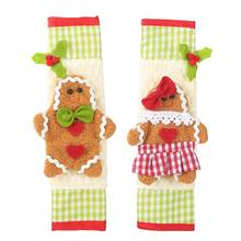 2pcs Snowman Kitchen Appliance Refrigerator Handle Door Covers- Christmas Decoration Idea(China)