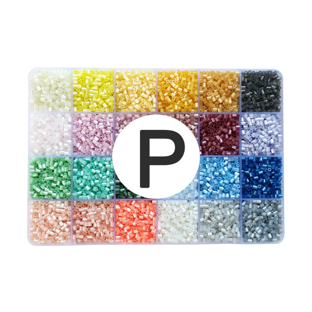 Yantjouet 2.6mm 168 couleur 7 plaque avec Kit d'outils 92400 pièces Hama perles perles de fer bricolage jouet pour enfants boîte de haute qualité - 6