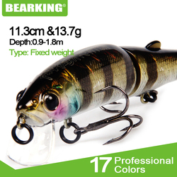 Bearking 2017 Fishing Lure Sz-M113 5PCS Minnow 113mm 13.7g Depth Wobbling Minnow Lure Plastic Hard Bait Fishing Wobblers