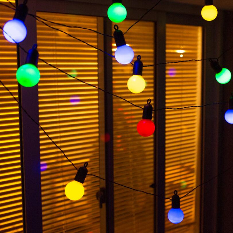 13m 50 Led Globe Party Christmas String Light,Milky/Clear Vintage Bulbs ,Decorative Outdoor Backyard Garland