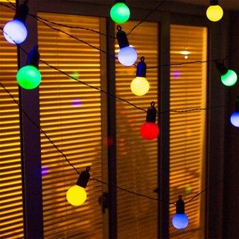 15m 50 LED Globe Party Weihnachten String Licht 6m 20LED USB Conector Milchig/Klar Vintage Birne Dekorative Outdoor Hinterhof Girlande