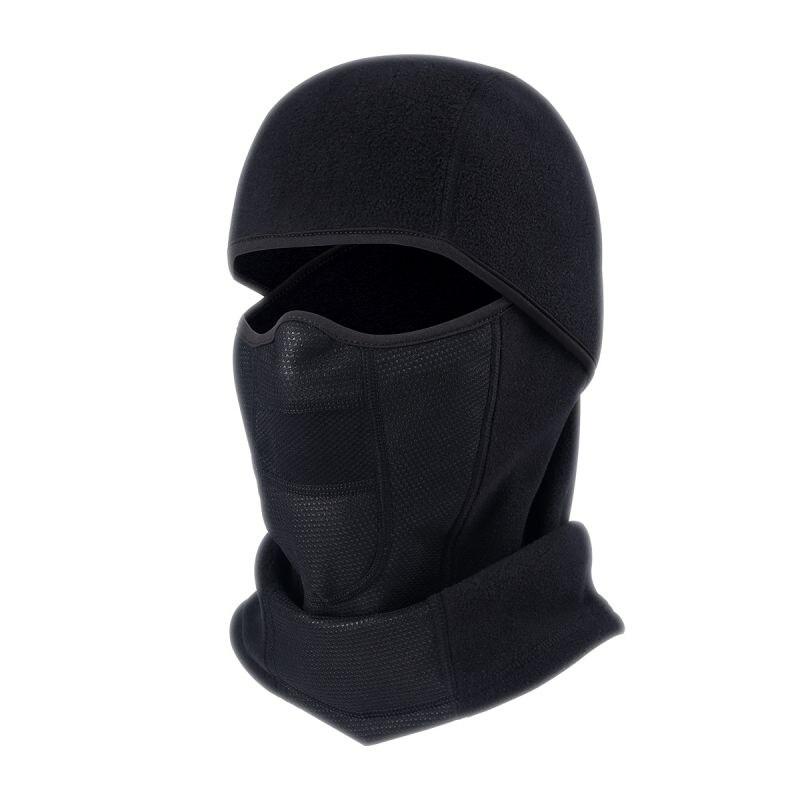 Зимняя велосипедная лицевая маска теплая ветрозащитная многофункциональная флисовая полулицевая Лыжная маска с воздушными отверстиями