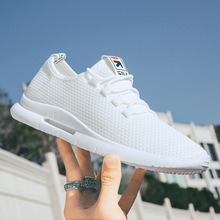 купить Mesh Breathable Running Shoes for Mans Lace-up Confortable Light Running Sneakers Fashion Casual Sports Fitness Jogging Shoes дешево