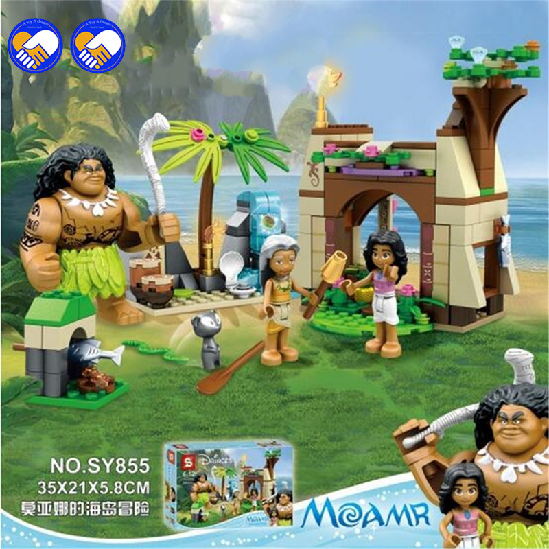 A Toy A Dream AIBOULLY Moana Island Adventure Set Building Blocks Bricks Toys Gift COMPATIBLE WITH Lepining