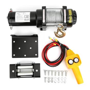 12V 4500l Electric Winch Workshop Garage Hoist Scaffolding Cars Off-Road Engines Lift Winch largo winch vol 12