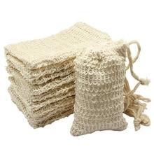 Paquete de 30 bolsas de jabón Sisal Natural exfoliantes de jabón protector de bolsa
