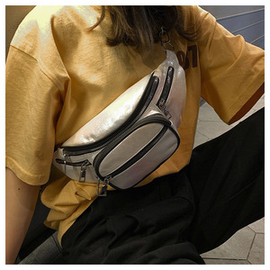 Avançado couro do plutônio bolsa feminina 2020 novo saco da cintura diamante verificação corrente mensageiro saco da maré coreana feminino pequeno saquinho moda ch