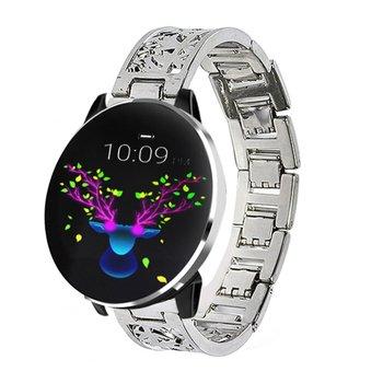 Nueva moda GO42, reloj inteligente redondo olor Sreen resistente al agua con control del ritmo cardíaco, brazalete de Fitness para hombre y mujer, regalo para adultos