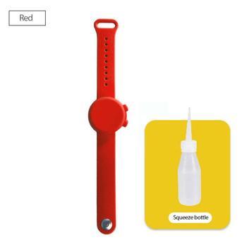Επαναστατικό Αδιάβροχο Βραχιόλι για Μεταφορά Αντισηπτικού για Ενήλικες και Παιδιά Λαστιχένιο Βραχιόλι-dispenser 10ml για Τοποθέτηση Αντισηπτικού