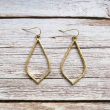 ZWPON Hammered Gold Silver Teardrop Earrings for Women Vintage Statement Jewelry Wholesale