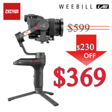 Zhiyun Weebill LAB Camera Stabilizer Wireless Image Image Transmission for Mirrorless Camera Handheld 3-Axis Gimbal vs Crane 3 beholder pivot 3 axis handheld camera stabilizer 360 endless oblique arm for all models dslr mirrorless camera pk zhiyun crane 2