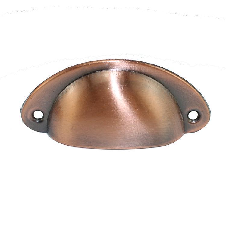 1 шт. ретро металл для ящика кухонного шкафа дверные ручки мебельные ручки, фурнитура антикварный шкаф Железный корпус ручки - Цвет: Brushed Red Bronze