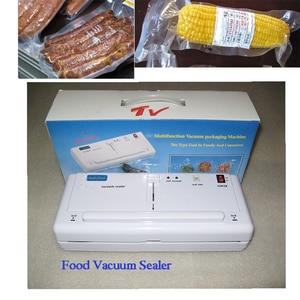 Бесплатная доставка! 220V/110V SINBO мини бытовой вакуумный Пластик запаиватель пакетов машина для упаковки пищевых продуктов DZ-280