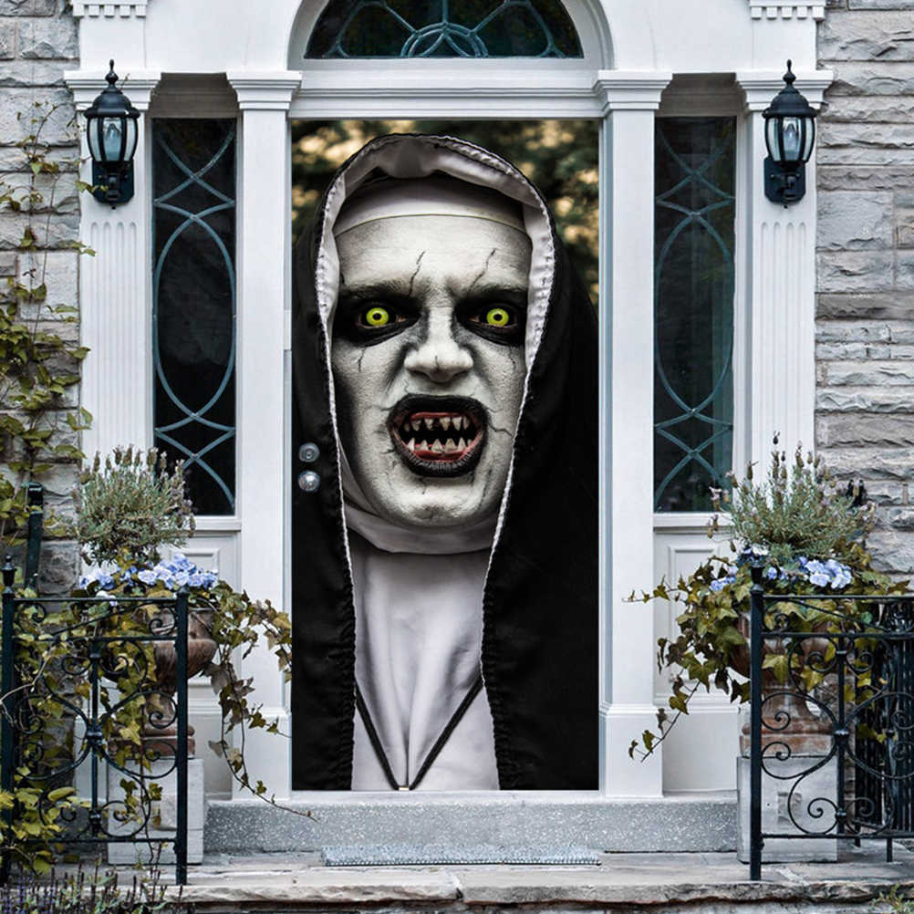 Halloween Haunted House Decorations.Halloween Haunted House Decor Diy Horror Zombie Window Door Sticker Scary Party Props House Decor Poster Wall Sticker Party Diy Decorations Aliexpress