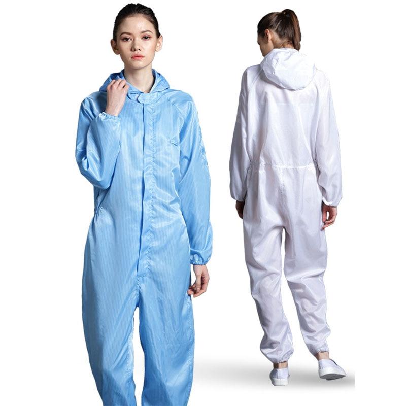 Waterproof Jumpsuit Women Hooded Raincoat Unisex For Cleaning Foods Factory Rompers Womens Satin Zipper Rain Overalls YT50222