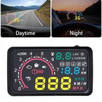 5.5 Inch Auto OBDII OBD2 Port Car Hud Head Up Display KM/h MPH Overspeed Warning Windshield Speed Projector Alarm System