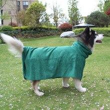 Поставка товаров принадлежности для кошек и собак из сверхтонкого волокна мягкий халат для собак толстое Впитывающее банное полотенце для домашних животных